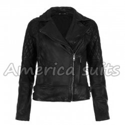 Ashley Greene Black Leather Jacket