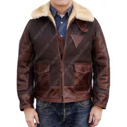 Aviator Flight Shearling Leather Jacket