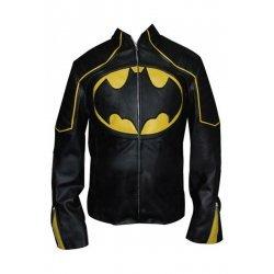 Batman Black And yellow  Motorbike Leather jacket
