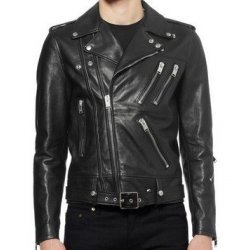 Classic Black Leather Jacket For Men