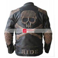 Black Leather Skull Jacket