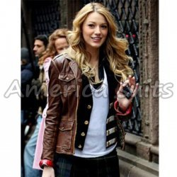 Blake Lively Age Of Adaline Leather Jacket