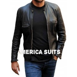 Bradley Cooper Movie Limitless Black Leather Jacket