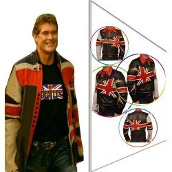 David Hasslehoff Union British Flag Jacket