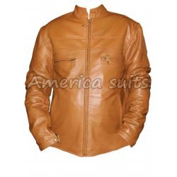 Brown Cafe Racer Bomber Jacket