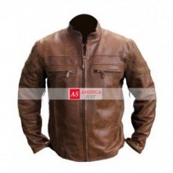 Brown Hand Waxed Leather Jacket