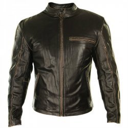 Cafe Racer Brown Leather Jacket For Men