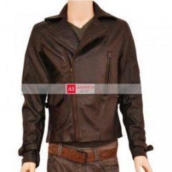 Captain America Distressed Leather Jacket For Men