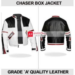 Chaser White Motorbike Leather Jacket