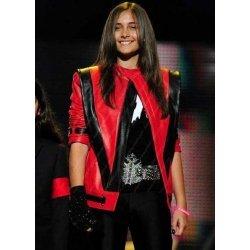 Paris Jackson Red Leather Jacket