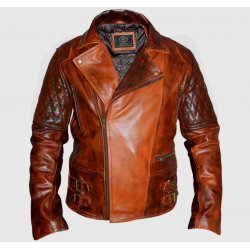 Classic Diamond Biker Brown Vintage