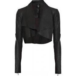 Womens cropped leather biker jacket