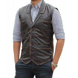 Cullen Bohannon Hell On Wheels Leather Vest
