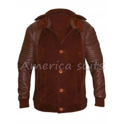 Daniel Radcliffe Brown Hornes Leather Jacket