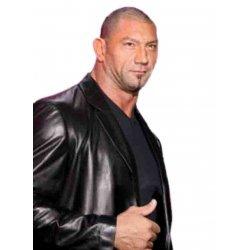 Dave Batista WWE Black Leather jacket