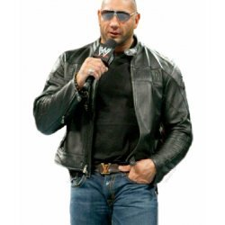 Dave Bautista Biker Leather Jacket