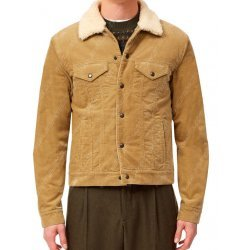 David Beckham Shearling Cord Jacket