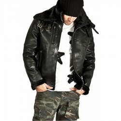 Double Face Belted Soft Fur Lining Jacket For Men