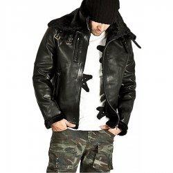 Double Face Belted Soft Fur Lining Jacket For Men