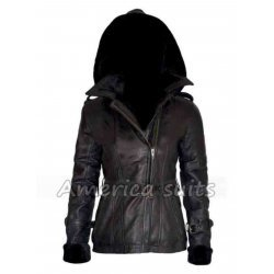 Emma Swan Black Leather Jacket For Women