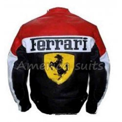 Ferarri Red And Black Leather Jacket