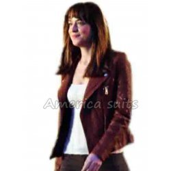Anastasia Fifty Shades Of Grey Brown Leather Jacket