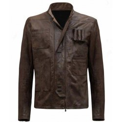 Han Solo Star Wars Forces Awakens Leather Jacket