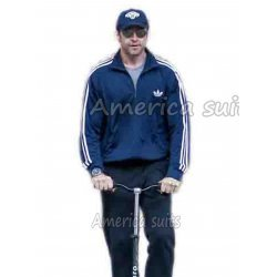 Hugh Jackman Chappie Movie Adidas Fire Bird Jacket