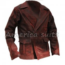 I Robot Will Smith Distressed Leather Coat