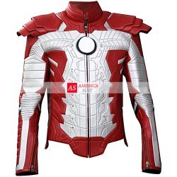 Iron Man Leather motorcycle Jacket