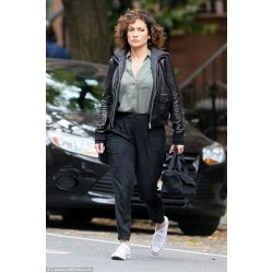 Jennifer Lopez Shades Of Blue Leather jacket