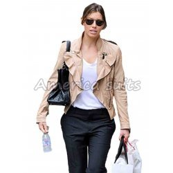 Jessica Beil Street Style Leather Jacket