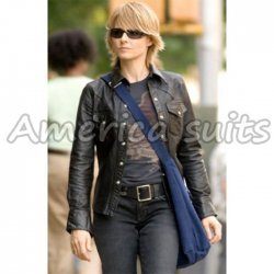 Brave One Jodie Foster Black Leather Jacket for women