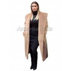 Kim Kardashian Long brown Coat