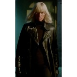 Charlize Theron Atomic Blonde Black Coat