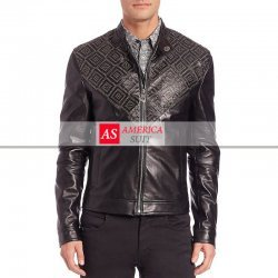 Men Black Lambskin Leather Jacket