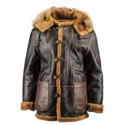 Men Classic Winter Shearling Leather Coat