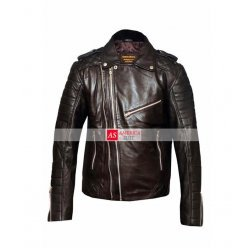 Men Double Zipper Biker Style Jacket