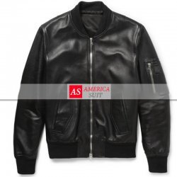 Men Elegant Black Leather Jacket