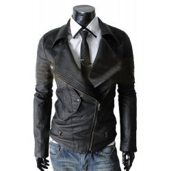 Biker Multi Pocket Leather Jacket For Men