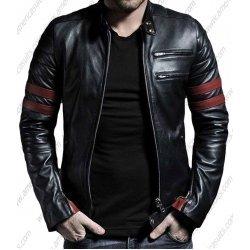 Mens Black Genuine Lambskin Leather Jacket