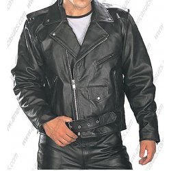 Mens Classic Top Grade Biker Jacket