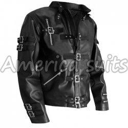 Michael Jackson Bad Vintage Leather Jacket in Black Color