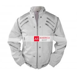 Michael Jackson Classic Beat it Jacket in white color