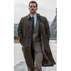Mission Impossible 6 Fallout Henry Cavil Trench Brown Coat