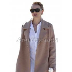 Naomi Watts Long Brown Coat