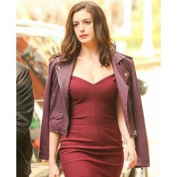 Oceans Eight Anne Hathaway Purple Jacket