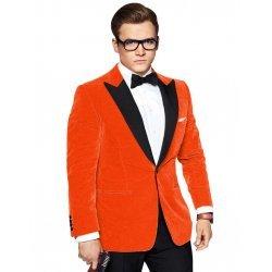 Orange Taron Egerton Kingsman Tuxedo Jacket