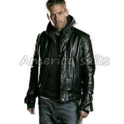 Paul Walker real Leather Jacket