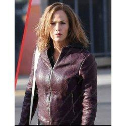 Peppermint Jennifer Garner Leather Jacket